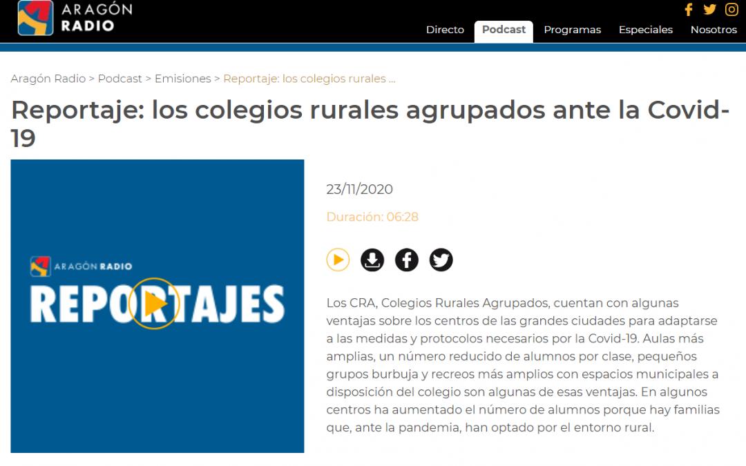 Los Colegios Rurales ante la COVID. Aragón Radio